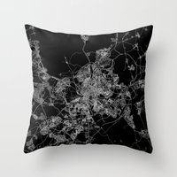 real madrid Throw Pillows featuring Madrid by Line Line Lines