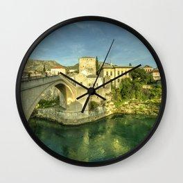 Mostar Bridge Wall Clock