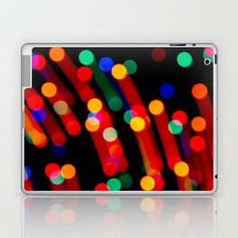 Bokeh Christmas Lights With Light Trails Laptop & iPad Skin