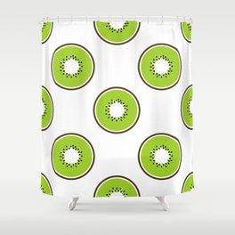 Kiwi summer fruit Shower Curtain