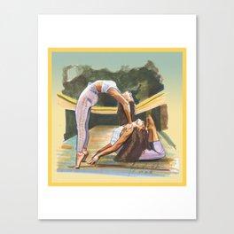 Yoga Figures Canvas Print