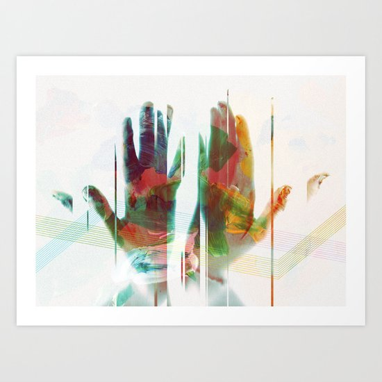 painter's hands Art Print