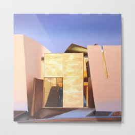 Modern Architecture. oil painting Metal Print