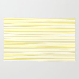 Yellow Lines dancing striped Rug