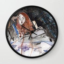 Sadist in Stockings Wall Clock