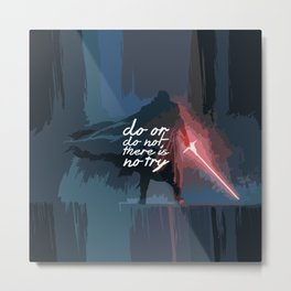 "Do or do not there is no try...""Yoda"" Life Inspirational Quote (Abstract Art) Metal Print"
