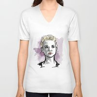moriarty V-neck T-shirts featuring elementary: jamie moriarty by roanne Q