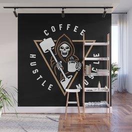 Coffee Hustle Muscle Grim Reaper Wall Mural