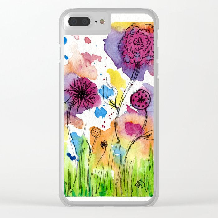 Flower Doodle 4 Clear iPhone Case