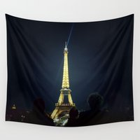 eiffel Wall Tapestries featuring Eiffel by Andy Bloxham