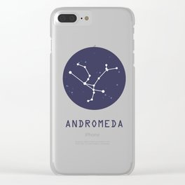 Andromeda Constellation Clear iPhone Case