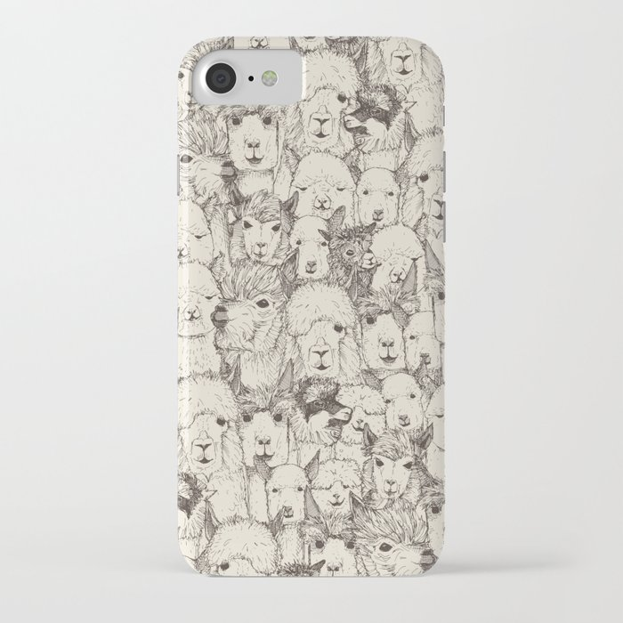 just alpacas natural iphone case