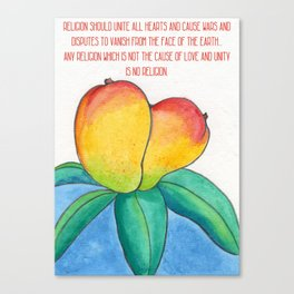 Religion should be the cause of love and affection Canvas Print