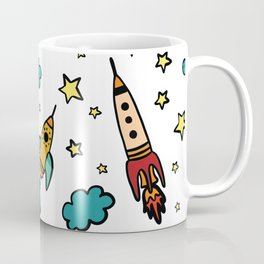 Colorful spaceshuttle in universe Coffee Mug