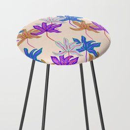 colourful autumn leaves Counter Stool