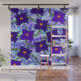 Fresh Floral: Purple Wall Mural