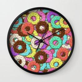 so many donuts Wall Clock
