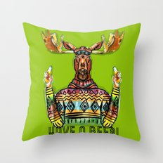 Have a Beer Throw Pillow