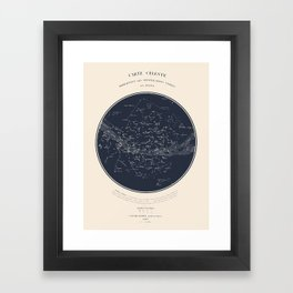 Carte Celeste Framed Art Print