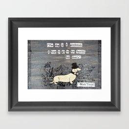 The dog is a gentleman Framed Art Print