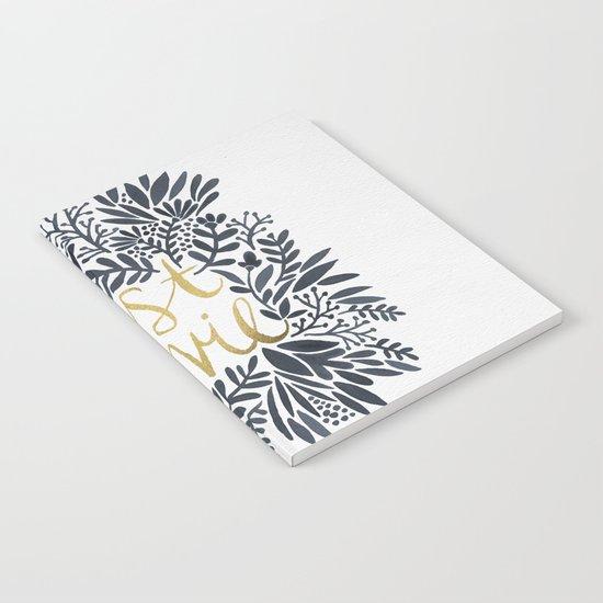 C'est la Vie – Grey & Gold Notebook
