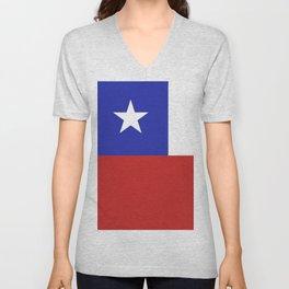Chile flag emblem Unisex V-Neck