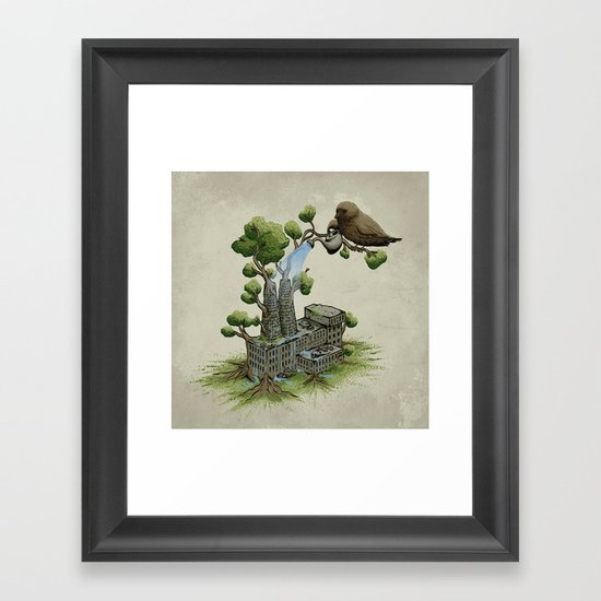Factory Plant Framed Art Print