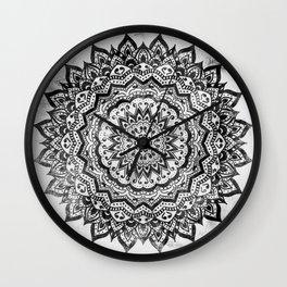 BLACK JEWEL MANDALA Wall Clock
