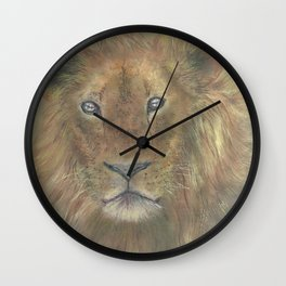 Young Lion Wall Clock