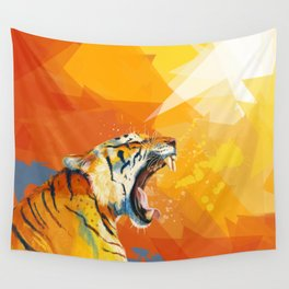 Tiger in the morning Wall Tapestry
