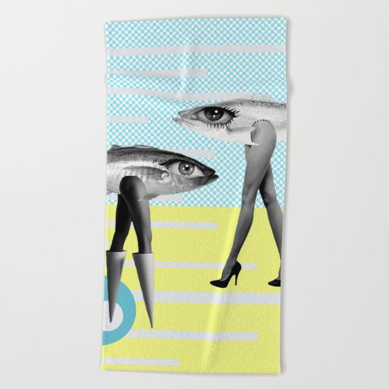 at beach Beach Towel