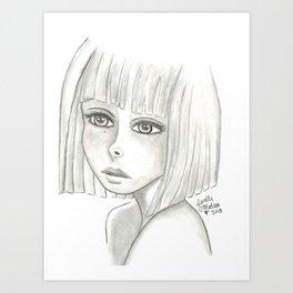 Sad Girl  Art Print