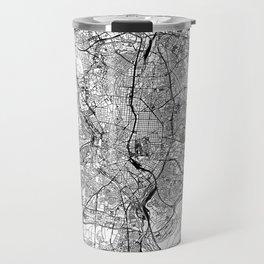 Madrid White Map Travel Mug