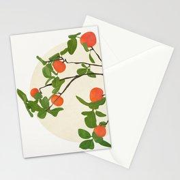 Orange Tree Branch Stationery Cards