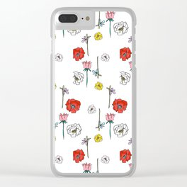 Sasha's Flowers Clear iPhone Case