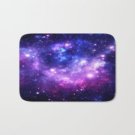 Purple Blue Galaxy Nebula Bath Mat