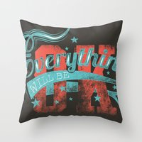 reassurance Throw Pillows featuring Reassurance  by Tshirt-Factory