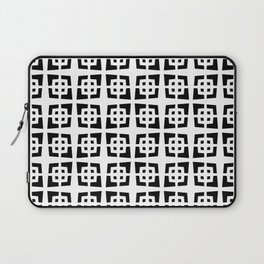 Mid Century Modern Pattern 272 Black and White Laptop Sleeve
