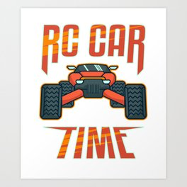 RC Car Lover Radio Controlled Driver Vintage Gift Art Print