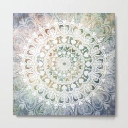 Love Mandala Earth Metal Print