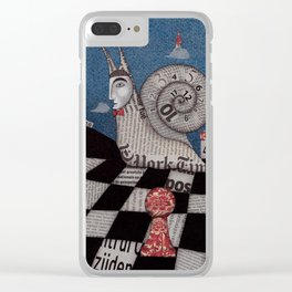 A Snaily Story Clear iPhone Case