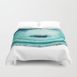 turquoise agate slice Duvet Cover