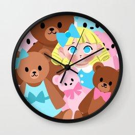 Goldilocks and the Teddy Bears Wall Clock
