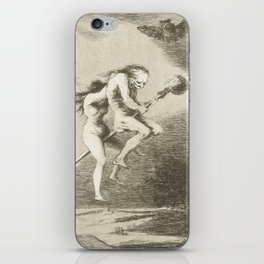 Witches on a Broomstick by Francisco Goya, 1797 iPhone Skin