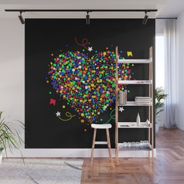 Love made of colorful dots Wall Mural