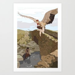 Angel in the Countryside Art Print
