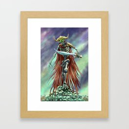 Corpse Warrior Framed Art Print