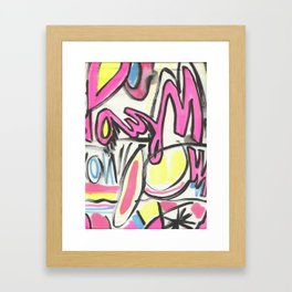 60's GRAFITTI Framed Art Print