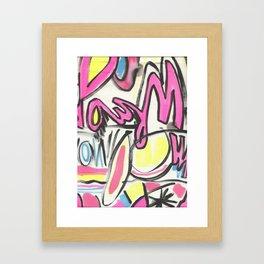 60's GRAFITTI Framed Art Print