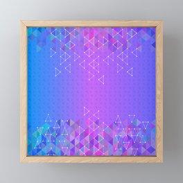 Colorful triangle background Framed Mini Art Print
